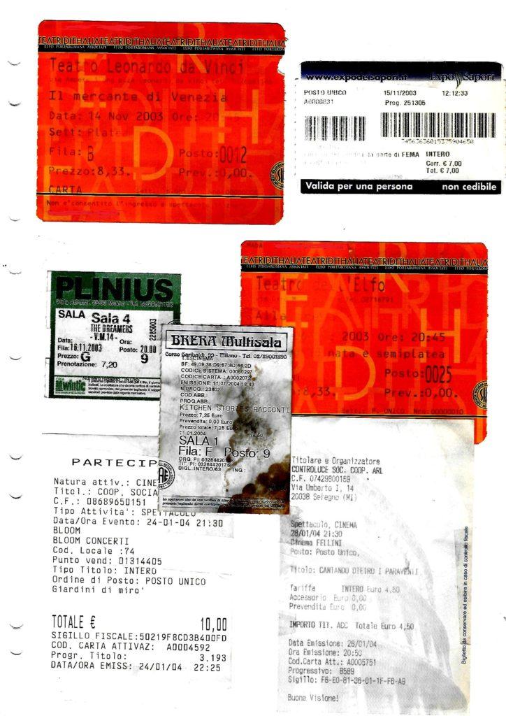 15 anni fa tramite i concerti, gli spettacoli di teatro e il cinema